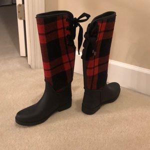 Coach lace up winter/rain boots